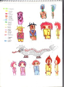 The Dolls Designs - Sketch pages IV